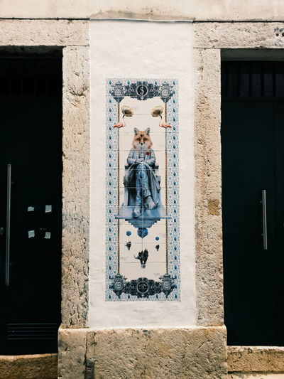 Portugal Architecture Art And Craft Building Exterior Built Structure Fox Lisbon No People Tiles Tiles Architecture Wall - Building Feature