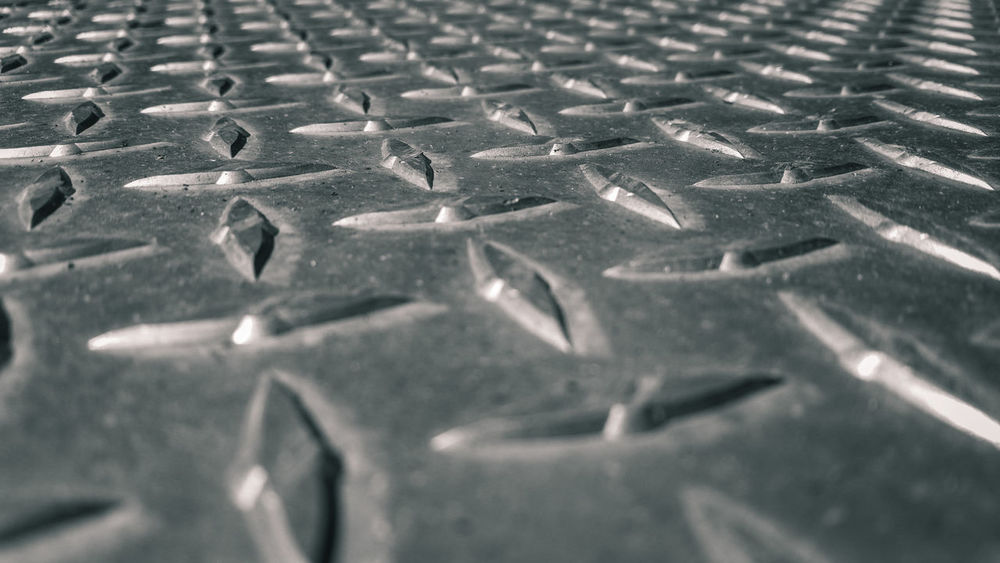 Diamond Plate Dimond Dimond Plate Industrial Industry Macro Photography Backgrounds Blackandwhite Close-up Diamond Diamond Plate Floor Full Frame Macro Metal Monochrome No People Non-slip Pattern Plate Safety Safty Selective Focus Textured
