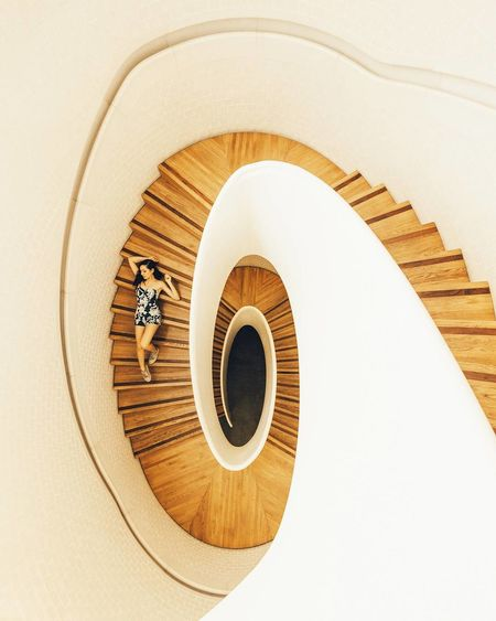EyeEm Selects Architecture Steps And Staircases Spiral Staircase Indoors  Minimalism No People Day Close-up Clock Face EyeEm Best Shots Interior Design First Eyeem Photo EyeEmNewHere