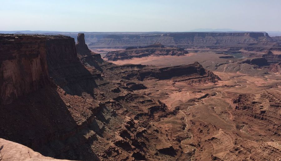 High Angle View Of Dead Horse Point State Park Against Sky