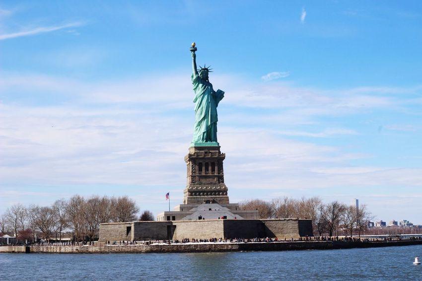 New York City #statueofliberty #NewYork  #newyorkcity Sky Architecture Human Representation Sculpture Statue Cloud - Sky Representation