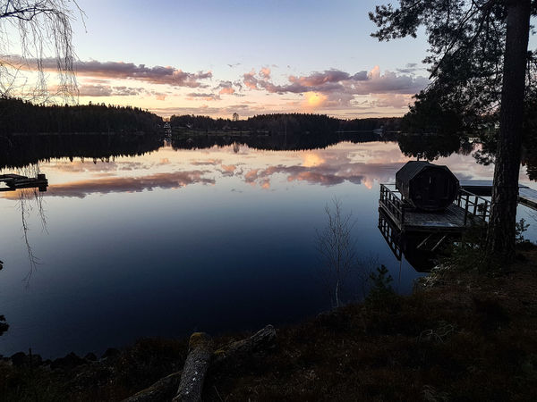 Sweden Lake Outdoors Nature Water Sky Reflection