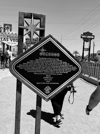 Welcome to fabulous Las Vegas! History Vegas Life Las Vegas Blackandwhite Photography Black & White Black And White Blackandwhite Vacations Travel EyeEm Selects Sign Day Communication Outdoors Road Close-up Street Text City Sky Road Sign Guidance Shape Architecture