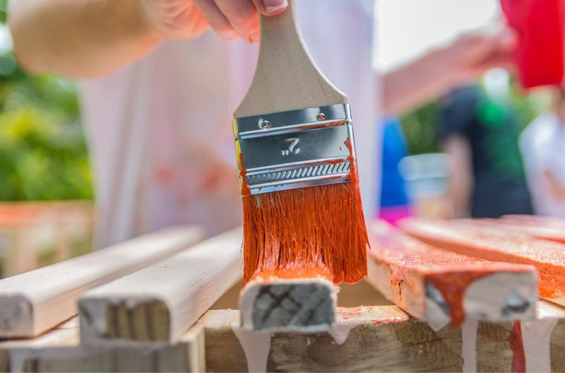 EyeEm Selects Wood - Material Focus On Foreground Real People Human Hand Paintbrush Painting Outsideworld Popular Home Depot