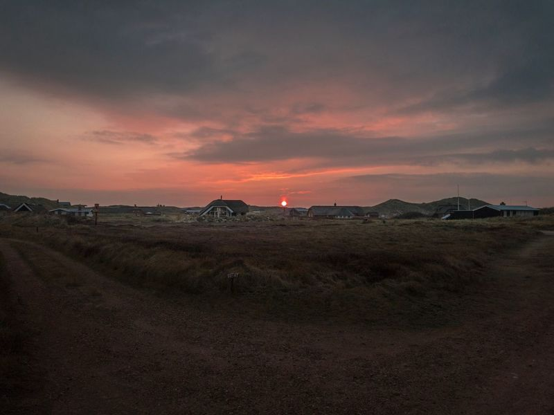 Sunset Landscape Sky Nature Beauty In Nature Tranquil Scene Scenics No People Tranquility Outdoors Red Sun Red Sunrise Idyllic Scenery Danmark Natur Danmark House Hvide Sande