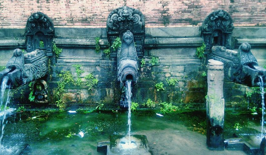 Natural Water Cool Eternal Triple Dripple Historical Monuments World Heritage Site Nepal Patan Durbar Square Patan Nepal