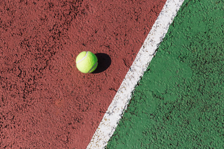 Tennis Ball Competition Court Day Green Color Leisure Activity Sport Tennis Tennis Ball Yellow