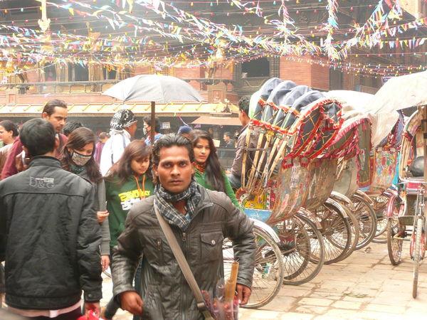 Traditional Clothing Nepal Kathmandu, Nepal Kathmandu People Busy Street Busy Place Crowded Street Crowded Place Nepalese Rikshaw Riksha Rikscha