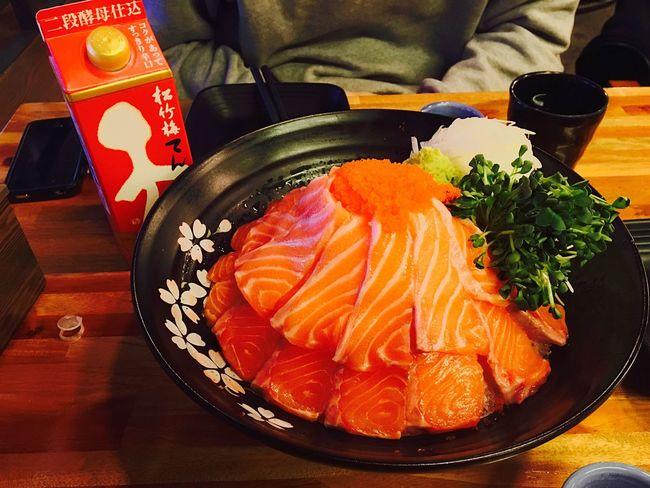 Salmon Sashimi Ansan Japanese Sake Foodporn