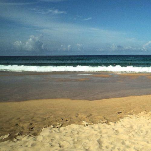 Sea And Sky Beach Hello World Nevergiveup