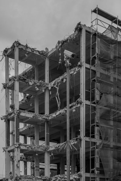 Verhulstplein Architecture Building Exterior Built Structure City Cityscape Construction Destruction New Old Sky Transformation Urban Black And White Friday