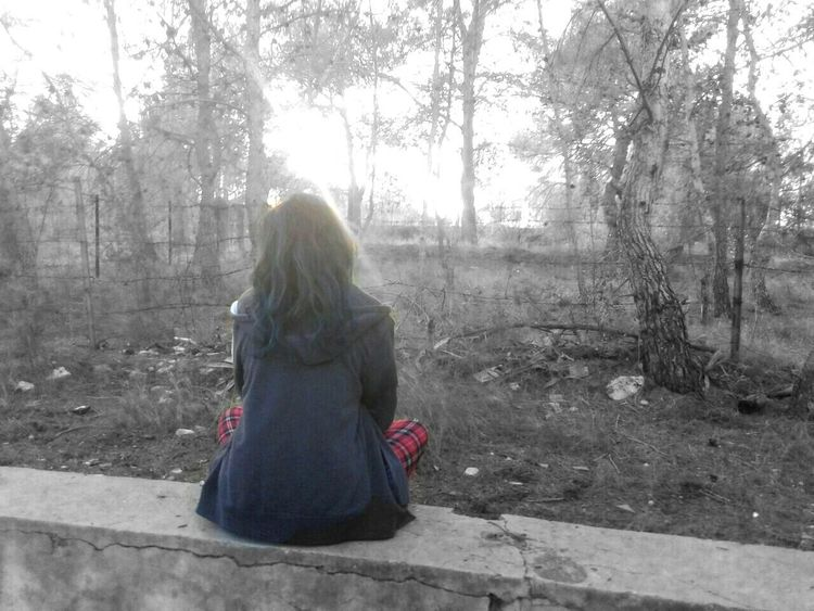 My life is a war. Black & White BlueHair Nature Sunset Red