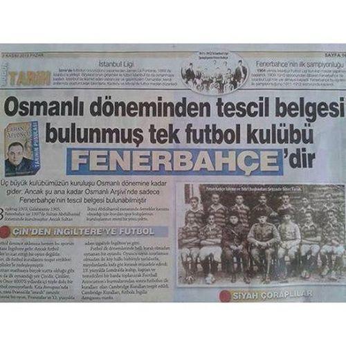 Tarihten bir demet Fenerbahce  Fenerbahce  1907 Sarikanarya sarilacivert fenerinmacivar yikilmayansonkale