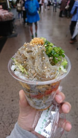 Food And Drink Holding Food Freshness Street Ready-to-eat Sushi Love City Life Close-up