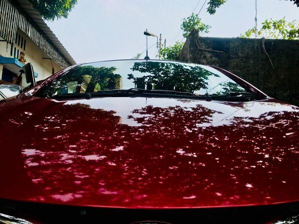 Car Transportation Land Vehicle Mode Of Transport Day Red Stationary