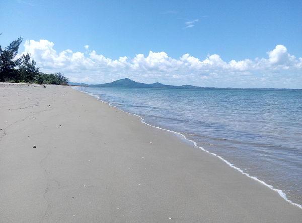 Pagatanbeach Pagatan Kalimantan Selatan INDONESIA Beach Sea Sand Water Cloud - Sky Sky Nature