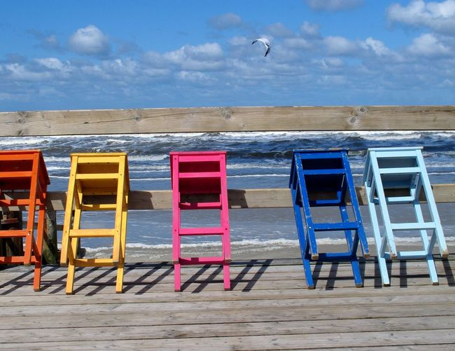 Remember the good old days #H2O Beach Water Sea Chair Day Cloud - Sky Multi Colored