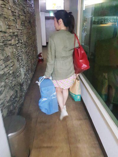 girl walking