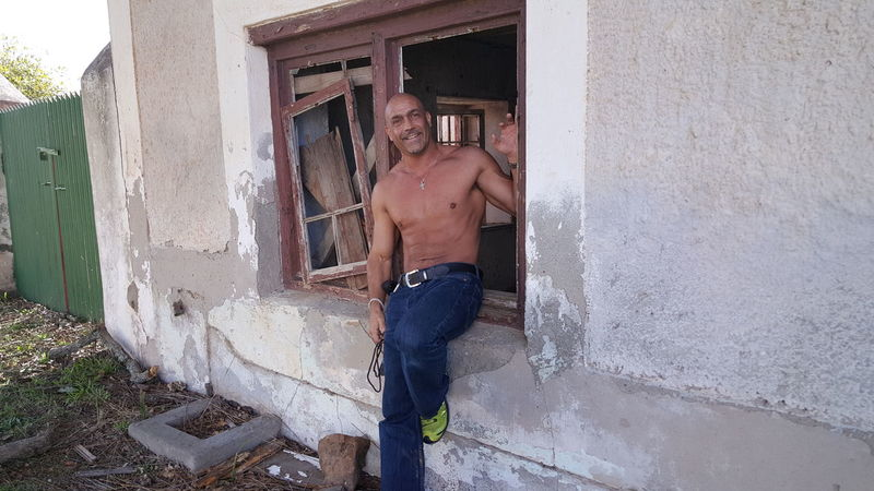 shirtless in old window Architecture Built Structure Day Door Doorway Fit Life  Mammal Men Muscles One Man Only One Person Only Men Outdoors Real People Shirtless Smile