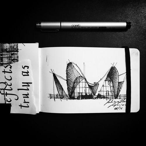 Architecture Arquitecture Sketchbook Sketch Arqsketch Archisketcher Urbansketchers Architettura València Calatrava Architecture_collection