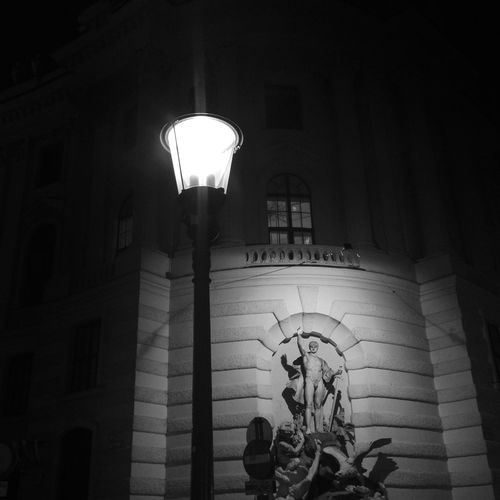 Illuminated statue in Vienna Architecture Austria Hofburg Tourist Attraction  Vienna Architectural Column Art And Craft Electric Lamp Electric Light Electricity  Famous Place History Human Representation Illuminated Lighting Equipment Monument Night Oesterreich Royal Statue Street Light Tourism Travel Destinations Wien Österreich