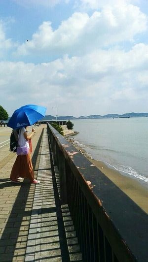 Right time,right you. Blue Sky Sky And Clouds Sea View Beautiful Girl EyeEm Best Shots Hot Summer Days In A City