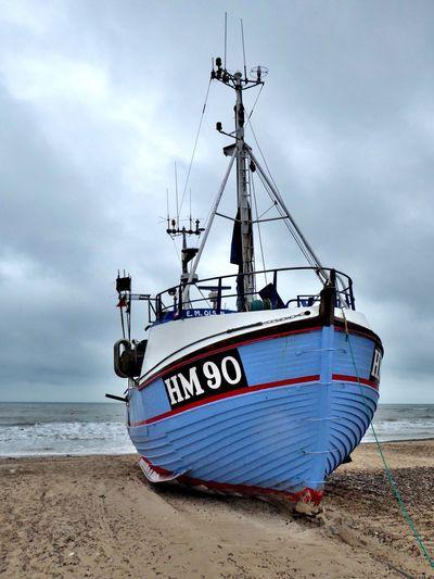Denmark 🇩🇰🇩🇰🇩🇰 Torup Strand Nautical Vessel Old Fishing Boat Beach Sea Transportation Sand Shore Boat Sky Water Cloud Horizon Over Water Cloud - Sky Ship Fine Art Photography Fine Art