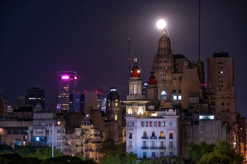 Buenos Aires, Argentina  Buenos Aires Emblematic Places Buenosaires City Cityscapes City Lights After Dark Argentina Photography Argentina Full Moon Night  Full Moon Long Exposure The Architect - 2016 EyeEm Awards