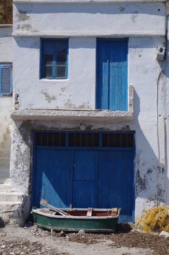 Griechenland Griechische Inseln Milos Island Netz Architecture Boot Building Exterior Built Structure Day Fischerhaus Greece Milos No People Outdoors Window