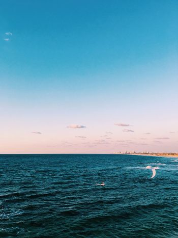 Lost In The Landscape letteraly:) Sea Water Nature Beauty In Nature Scenics Tranquil Scene Blue Tranquility Horizon Over Water Outdoors No People Clear Sky Sunset Sky Day