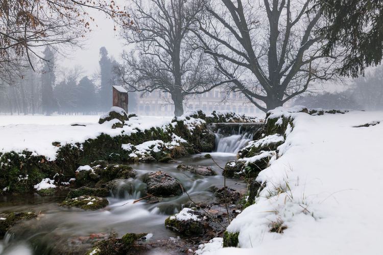 Once upon a time Dream Bare Tree Beauty In Nature Day Flowing Flowing Water Land Landscape Long Exposure Motion Nature No People Outdoor Photography Outdoors Outdoors Photograpghy  Plant Scenics - Nature Snow Tale  Tranquil Scene Tranquility Tree Water White Color Winter
