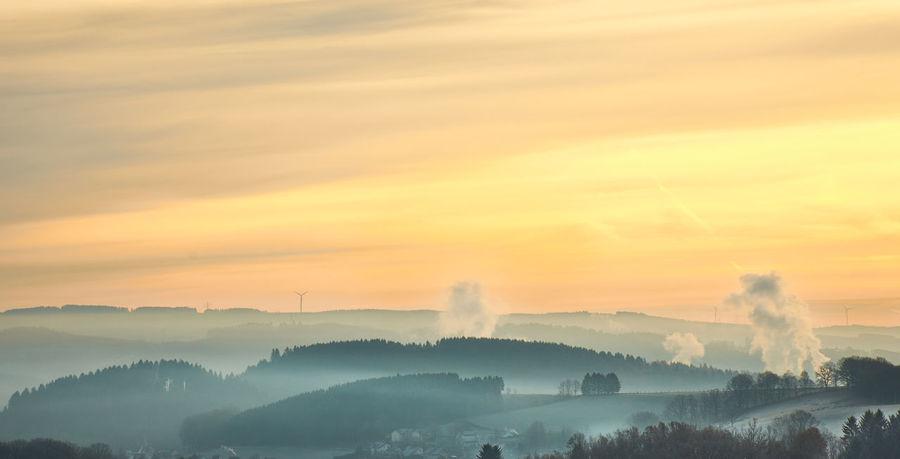 Fog Foggy Morning Foggy Weather Fogy Mountains FogyNature Orange Color