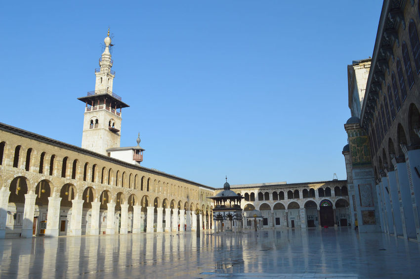 Umayyad Mosque Damascus  Islamic Architecture Islamicarchitecture Old Buildings Old Mosque Syria  Turism Umayyad Mosque,