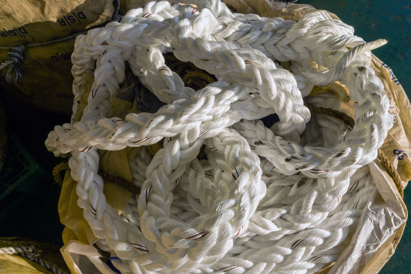 mooring rope Offshore Offshore Life Mooring Rope White Nylon Hawser Nautical Maritime Thread Coil Construction Vessel Nautical Vessel Ship