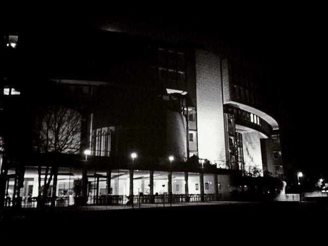 B&w Düsseldorf by Night