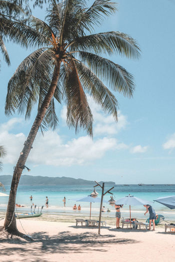 Beach Photography Beach Beachphotography Beauty In Nature Beauty In Nature Boracay Boracay Philippines Day Group Of People Horizon Horizon Over Water Land Nature Outdoors Palm Tree Plant Sand Scenics - Nature Sea Sky Tranquil Scene Tranquility Tree Tropical Climate Water