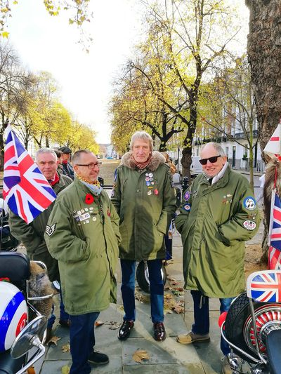 Mods Mods Scooters Senior Adult Military Uniform Patriotism Flag Senior Men Tree Men Warm Clothing Uniform Adult People Togetherness Outdoors Politics Adults Only Military Day Army The Street Photographer - 2017 EyeEm Awards BYOPaper! EyeEm LOST IN London