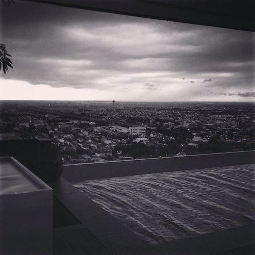 Blackandwhite Gloomy Day at Semarang , Indonesia
