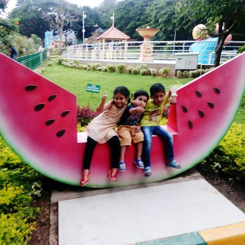 Full Length Fun Leisure Activity Smiling Happiness Park - Man Made Space Enjoyment Two People Day Outdoors Togetherness Friendship Real People People Young Adult Tree Lifestyles Playing Young Women Cheerful Bangalore Garden Play Ground