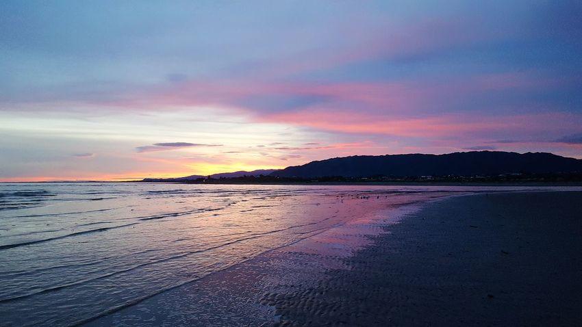 Water Sea Sunset Beach Low Tide Dramatic Sky Sky Horizon Over Water Landscape Cloud - Sky