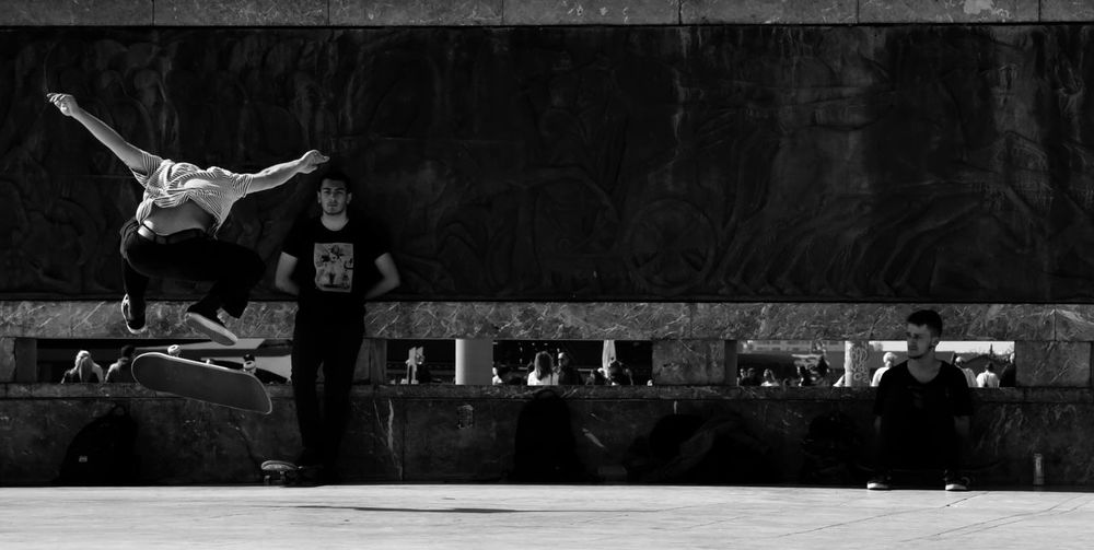 Freeze! Skateboarding Skateboard Performance Capturing Movement Capture The Moment EyeEm Gallery Eye4photography  athleisure EyeEm Best Shots B&w b&w street photography Streetphotography City Life People Youth Young Adult Youth Culture Sunlight And Shadow Daily Life Hanging Out Having Fun Young Men Real People Skate Performance Street Artist Full Length Sport Men Arts Culture And Entertainment