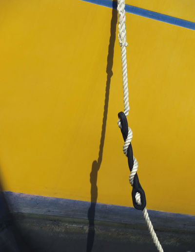 Yellow Strength Rope Close-up