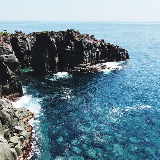 Japan Sea Water Sky Beauty In Nature Scenics - Nature Horizon Horizon Over Water Rock Outdoors EyeEmNewHere