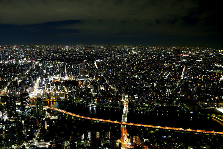Aerial view from the Skytree. Aerial View Architecture Japan Japan Photography Light Night Skytree Skytreetokyo SkyTreeTower First Eyeem Photo