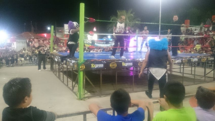 Night Competition Watching Large Group Of People Arts Culture And Entertainment Sport Spectator Men Stadium People Match - Sport Leisure Activity Women Audience Adult Crowd Illuminated Fan - Enthusiast Lifestyles Outdoors Mexican Wrestling Lucha Libre Wrestling Torreón, Coahuila Nightlife