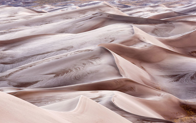 Full frame shot of sand dunes in desert