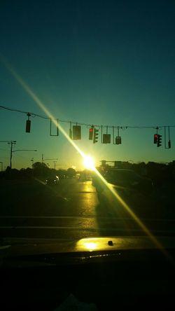Transportation Road Street City Life Sky Rochester, NY City From My Window Sun Beams Sunrise Sunbright No People Car