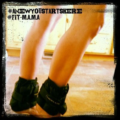 Adding ankle weights to the daily regimen!