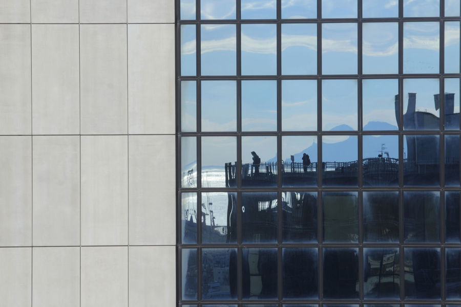 Urban Skyline Urban Geometry Italia Italy Photo Vesuvio Naples Napoli No People Office Building Exterior Day Tower Modern Built Structure Work City Architecture Napoli_foto Architecture Window Sky Reflection Modern Window Washer People EyeEmNewHere EyeEmNewHere