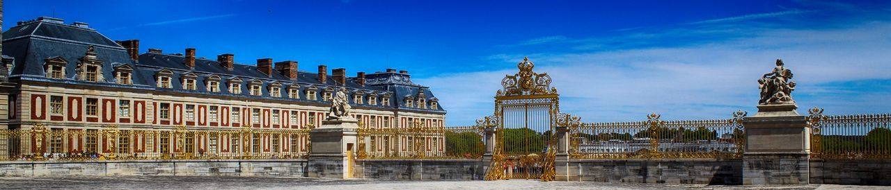 Versailles castle Castle Versailles Architecture Building Exterior Built Structure City Day History No People Outdoors Palace Sculpture Sky Statue Travel Destinations